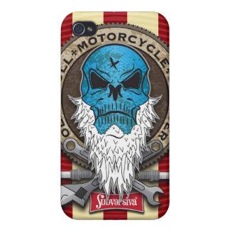 Old-Skull_MotorcycleBuylder-SHAPE I Cover For iPhone 4