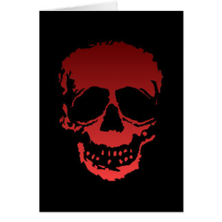 Old Skull red Card