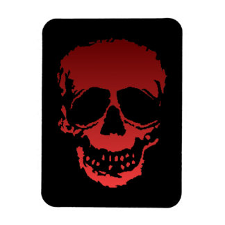 Old Skull red Magnet