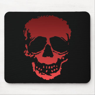 Old Skull red Mouse Pad