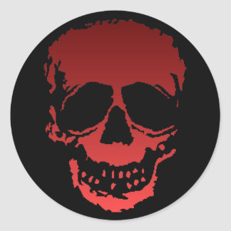 Old Skull red Stickers