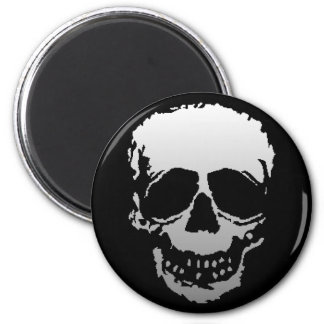 Old Skull white 2 Inch Round Magnet