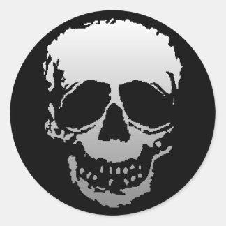 Old Skull white Classic Round Sticker
