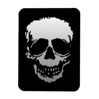 Old Skull white Rectangular Photo Magnet