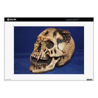 "OLD SKULL ZaZZLE SKIN Decal For 15"" Laptop"