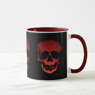 Old Skulls black and red Mug