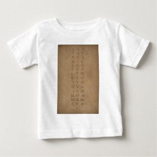 old slavonic church alphabet baby T-Shirt