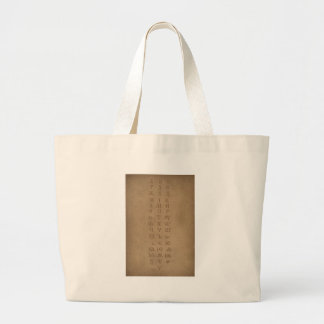 old slavonic church alphabet large tote bag