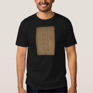 old slavonic church alphabet t shirt