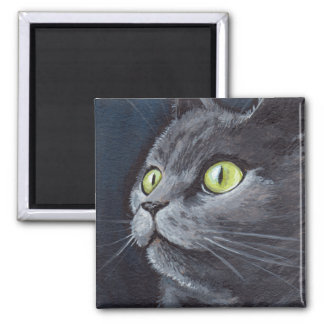 Old Smokey - Grey Cat Magnet