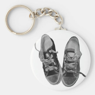 OLD SNEAKERS BASIC ROUND BUTTON KEYCHAIN