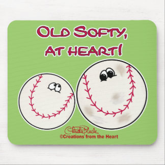 Old Softy at Heart Mouse Pad