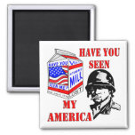 Old Soldier Have You Seen My Missing America 2 Inch Square Magnet