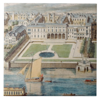 Old Somerset House on the Strand, engraved by Jean Ceramic Tile