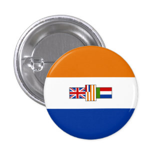 Old South African Flag - Oranje-blanje-blou Buttons