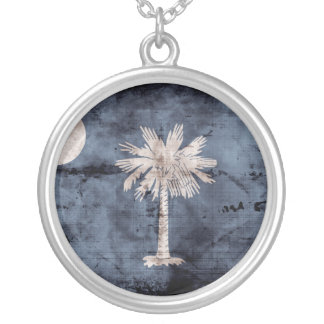 Old South Carolina Flag; Personalized Necklace