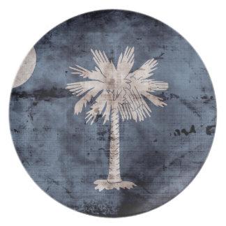 Old South Carolina Flag; Dinner Plate