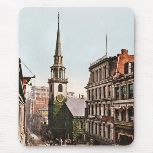 Old South Church Boston 1900 - Vintage Mouse Pads