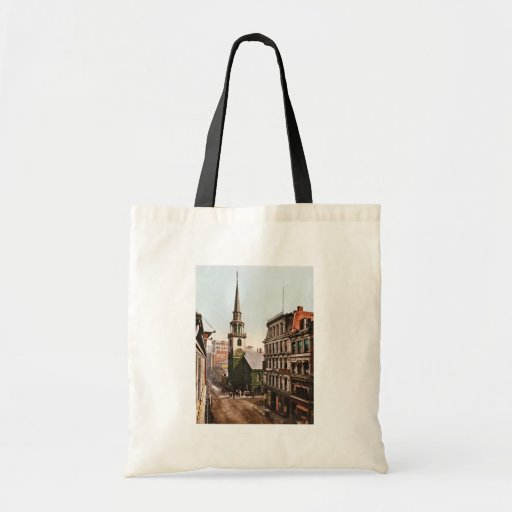 Old South Church Boston 1900 - Vintage Tote Bags