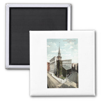 Old South Church Boston Mass. 1908 Vintage 2 Inch Square Magnet