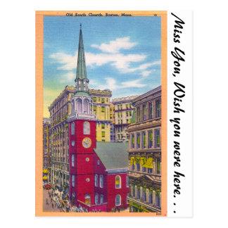 Old South Church, Boston, Massachusetts Postcard