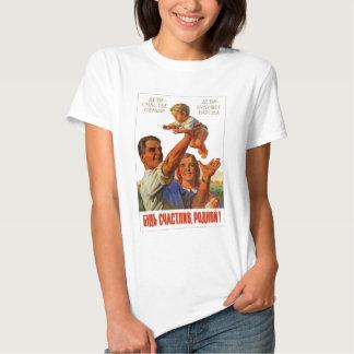 Old Soviet Russian Propaganda Apparel Tshirt