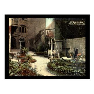 Old Spanish Court Yard, New Orleans Vintage Postcards