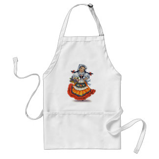 Old spanish doll adult apron