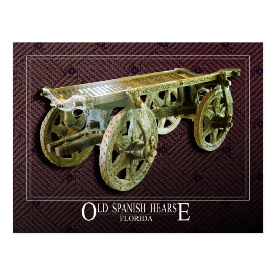 Old Spanish Hearse Postcard