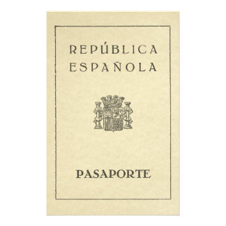 Old Spanish Republic passport (sepia to paper) Stationery