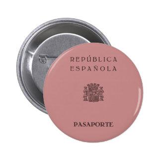Old Spanish Republic passport (solid pinkish) 2 Inch Round Button