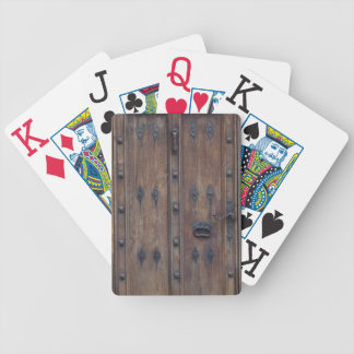 Old Spanish Wooden Door with Bolts Bicycle Playing Cards