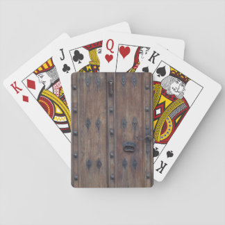 Old Spanish Wooden Door with Bolts Poker Cards