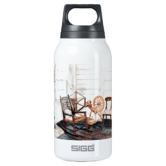 Old Spinning Wheel Insulated Water Bottle