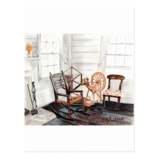Old Spinning Wheel Postcards