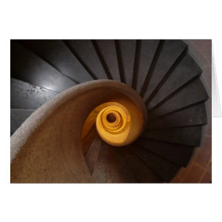Old Spiral Staircase Card