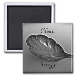 Old spoon clean or dirty dishwasher magnet