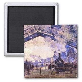 Old St Lazarre Station by Claude Monet Fridge Magnets
