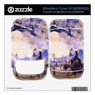 Old St Lazarre Station by Claude Monet BlackBerry Skins