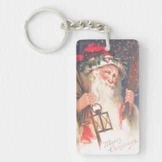 Old St. Nicholas with Lantern Vintage Keychain