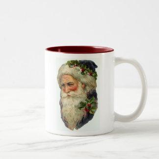 Old St Nick Card Coffee Mugs