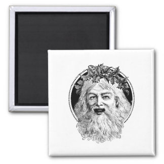 Old St. Nick Retro Christmas Magnets