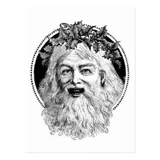 Old St. Nick Retro Christmas Postcard