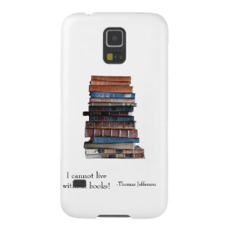 Old stack of books-with Jefferson Quote Galaxy S5 Cover
