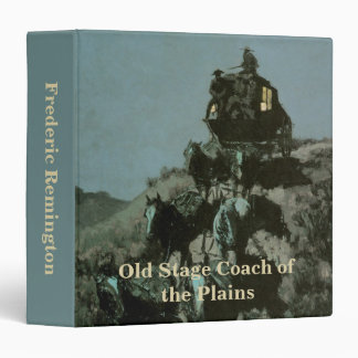 Old Stage Coach of the Plains by Remington Binder