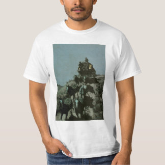 Old Stage Coach of the Plains by Remington T-Shirt