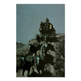 Old Stagecoach of the Plains by Remington Print