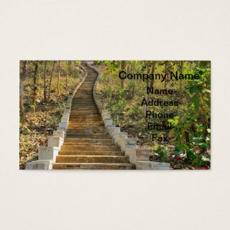 Old staircase going up business card