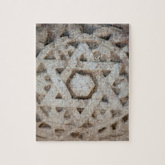 Old Star of David carving, Israel Jigsaw Puzzle
