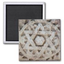 Old Star of David carving, Israel Magnet